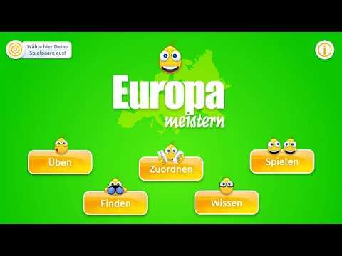 Europa meistern - Länder, Hauptstädte & Flaggen Europas im Handumdrehen lernen (iPhone Demo)