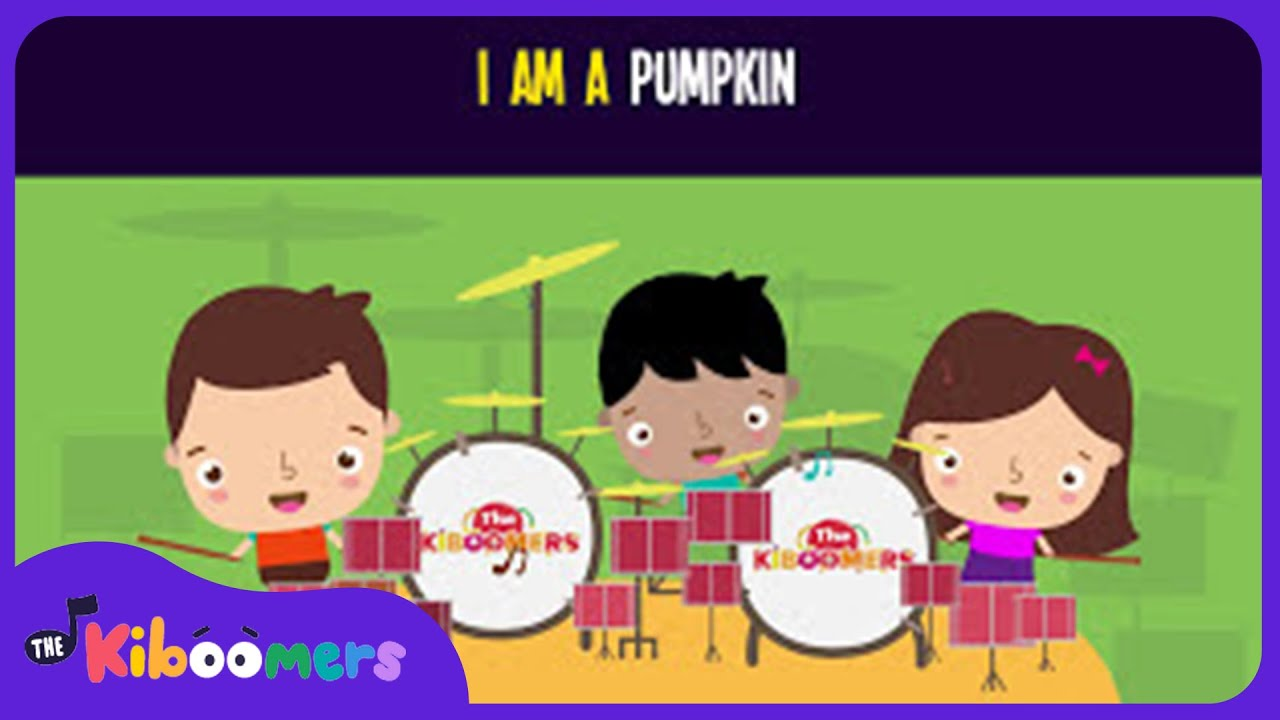 Jack O Lantern Song for Kids | I Am a Pumpkin | Halloween Songs for Children | The Kiboomers