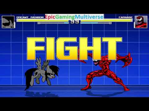 Carnage VS Dreamy Rainbow On The Hardest Difficulty In A MUGEN Match / Battle / Fight