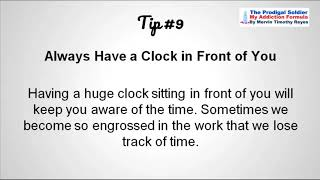 Productivity Tips For Living After Completeing Drugs And Alchihol Treatment.