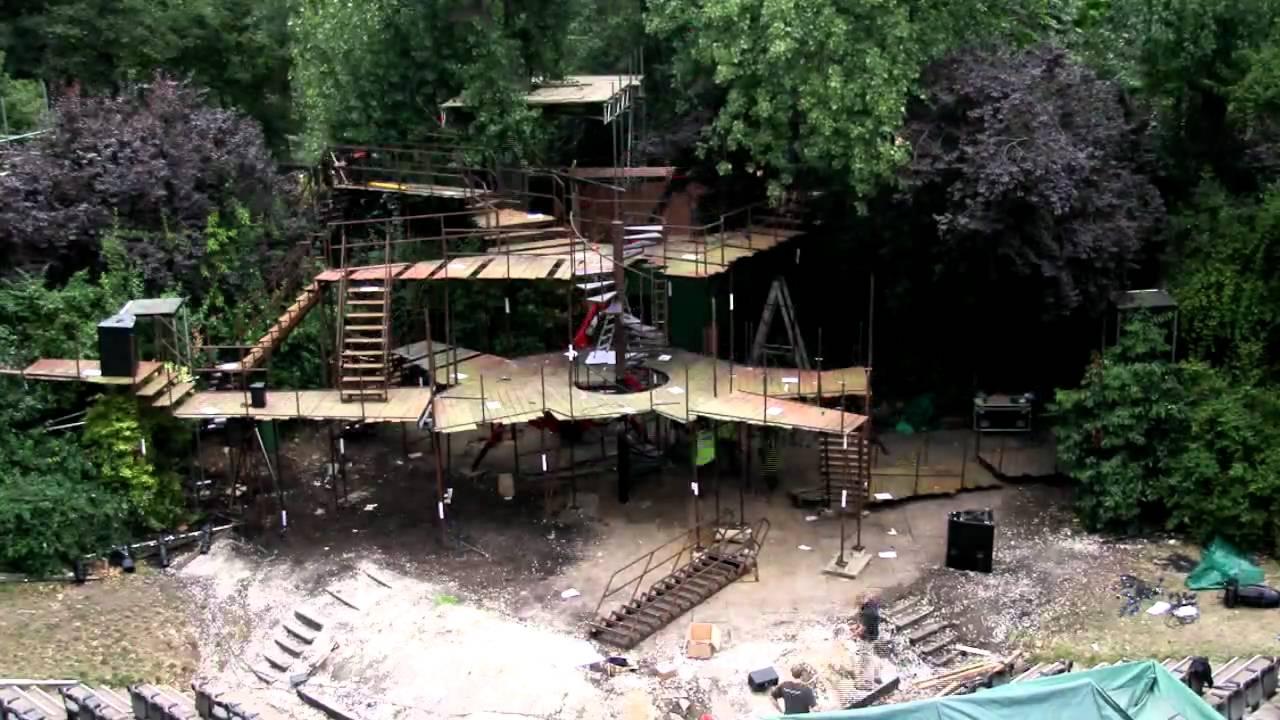into the woods set build at regent u0027s park open air theatre youtube