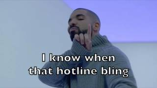 Drake - Hotline Bling Karaoke Acoustic Guitar Instrumental Cover Backing Track + Lyrics