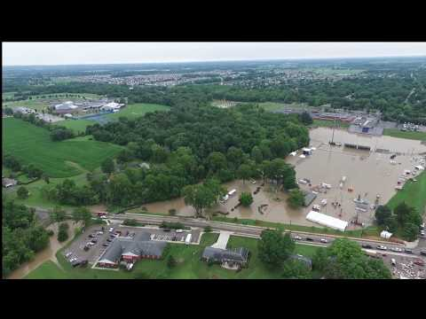 Pickerington OH downtown flooding 7/13/17