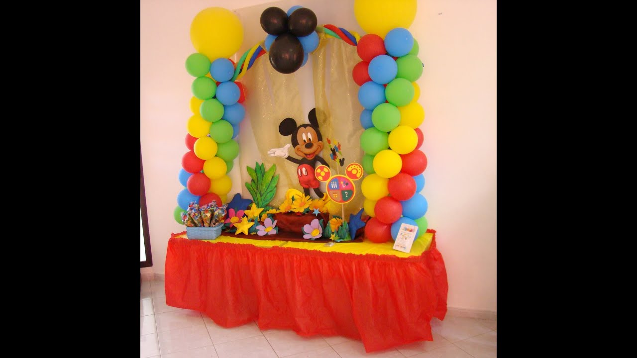 Mickey Mouse Decoraciones Para Fiestas ~ Decoraci?n Cumplea?os Mickey Mouse 2  YouTube