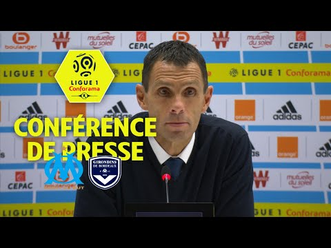 Conférence de presse Olympique de Marseille - Girondins de Bordeaux (1-0) / 2017-18