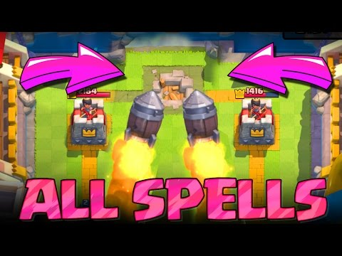 WIN WITH ALL SPELLS :: Clash Royale :: FUN TROLLING