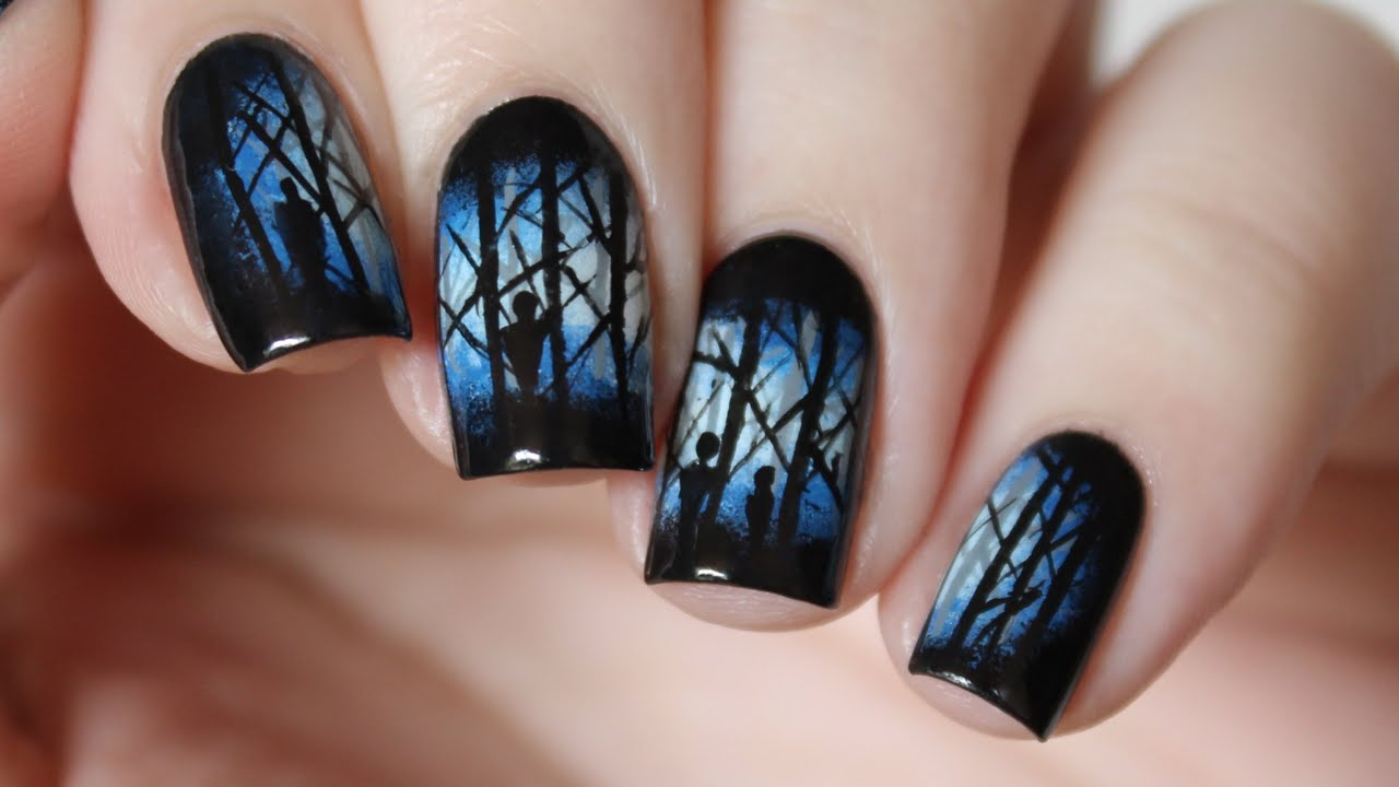 FEAR of THE DARK NAIL ART