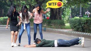 Best Prank on Cute Girls Pranam Bhabiji🙏 Prank Gone Wrong 😲 PrankBuzz