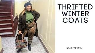 THRIFTED WINTER OUTERWEAR (TRY ON HAUL)||THEHAYESSISTERS