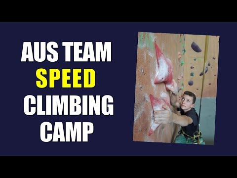 Team Aus Speed Climbing Training Camp Melbourne