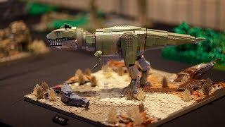 Lego World 2018 4  Lego Fan Динозавры  Тачки 3 и Star Wars