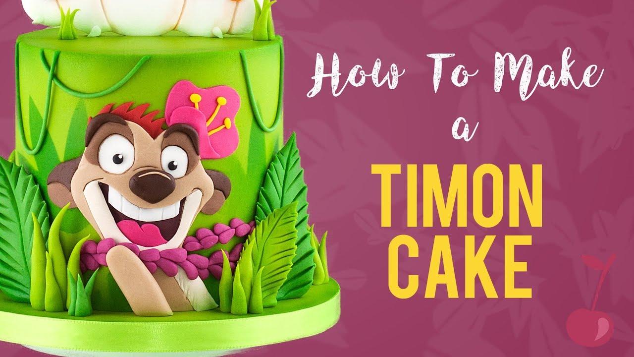 Pumba Cake: Lion King Timon Cake Tutorial
