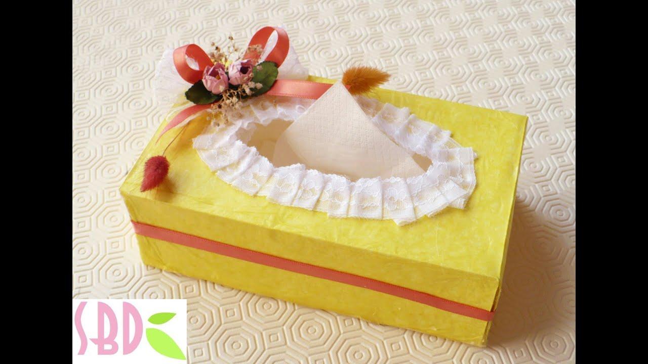 spesso Tutorial: creazione e decorazione Scatola di fazzoletti - Tissue  VP24