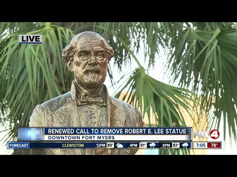 Renewed interest in removing Robert E. Lee statue in Fort Myers