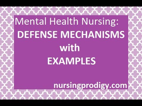 Metal Health Nursing Defense Mechanisms With Examples Youtube