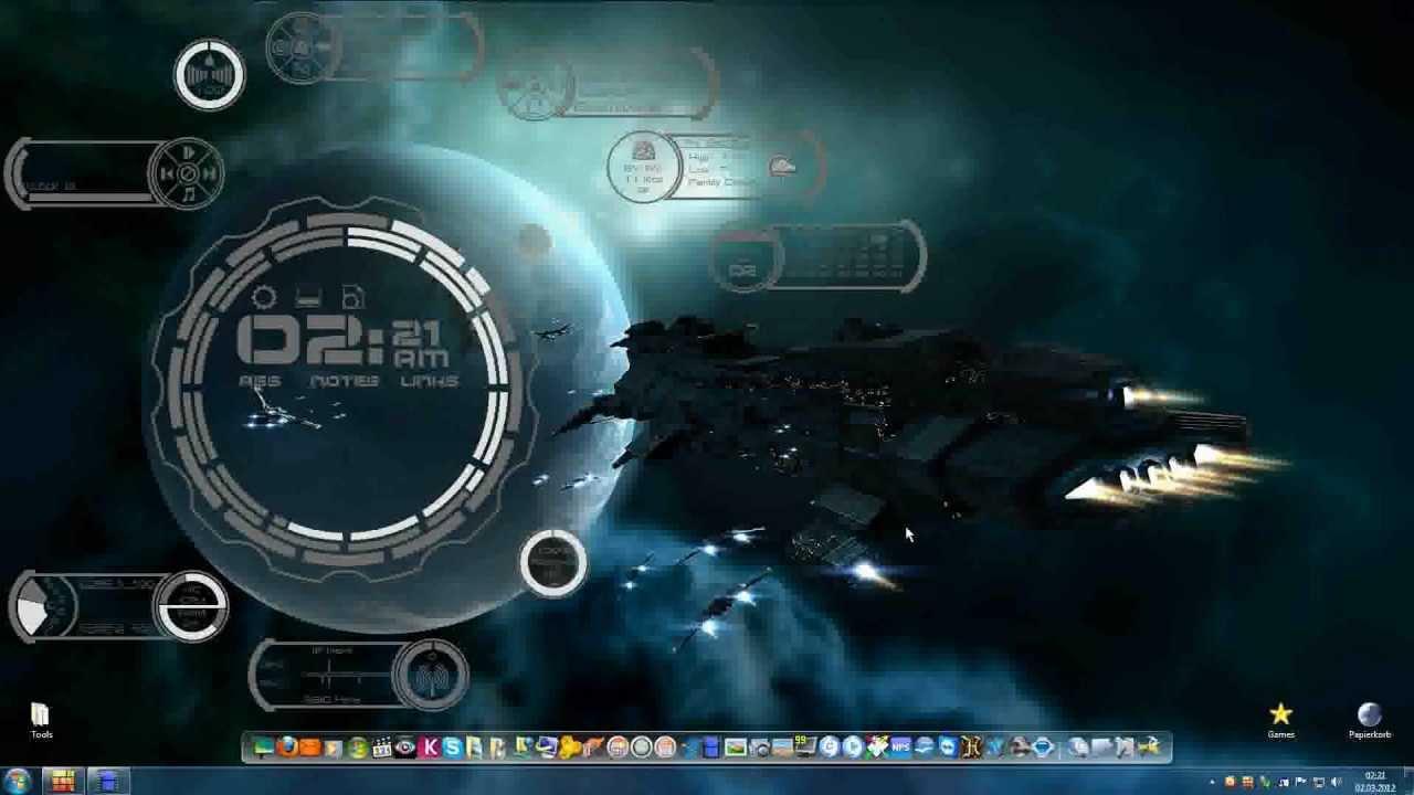 Alien Planet Windows 7 3d Wallpaper 3d Desktop Rainmeter Skins 2 2 Rainmeter デスクトップ Youtube