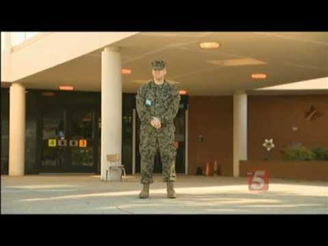 A TN Father, a Marine, Stands Guard Over His Childs Elementary School