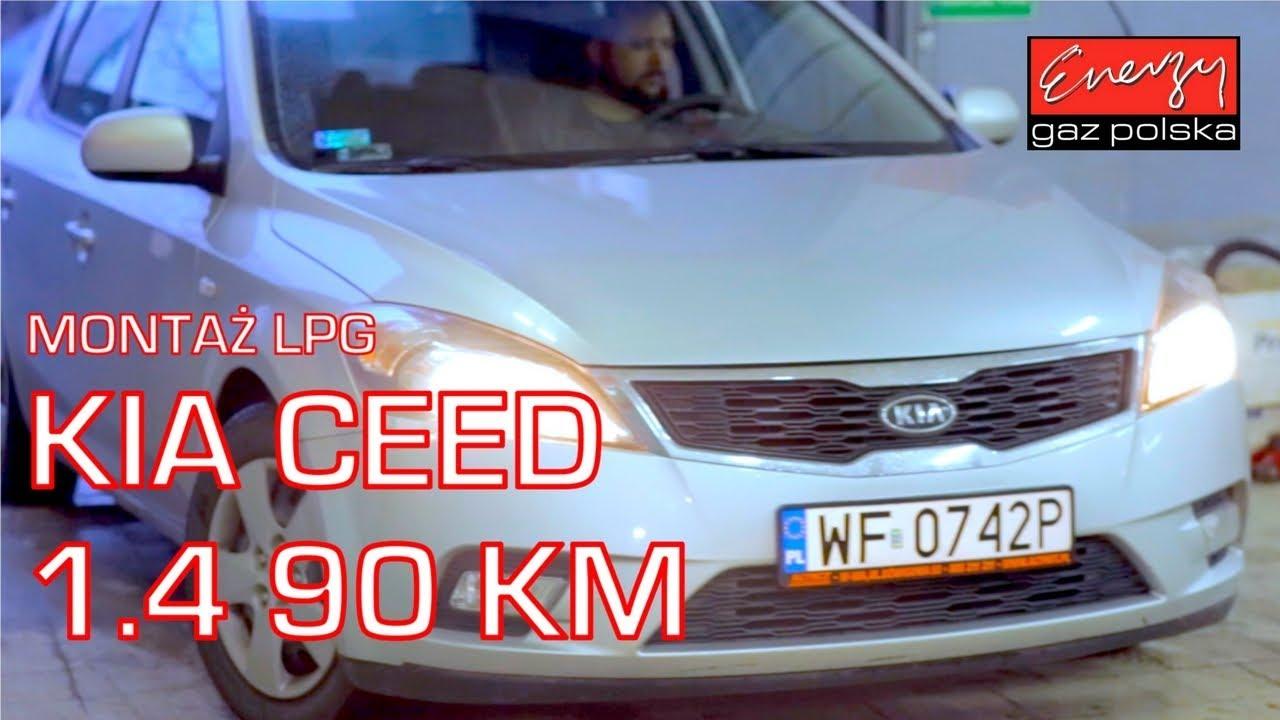 Montaż LPG KIA Ceed z 1.4 90 KM 2009r w Energy Gaz Polska na gaz BRC SQ 32