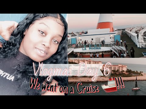 Vlogmas Day 6 - We Went On Bahamas Paradise Cruise * Almost Fell Over Board*
