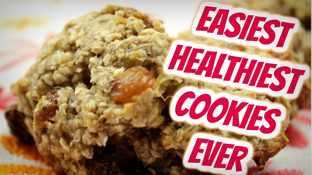 Banana Oats Cookies Healthy Easy Cookie Recipe Diet