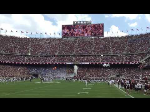 Texas A&M Football Entrance vs UCLA with Aggie War Hymn