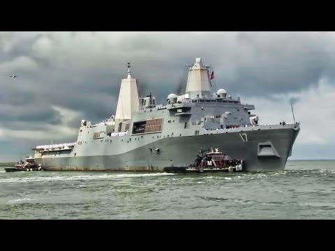 USS San Antonio Departs Norfolk On Deployment