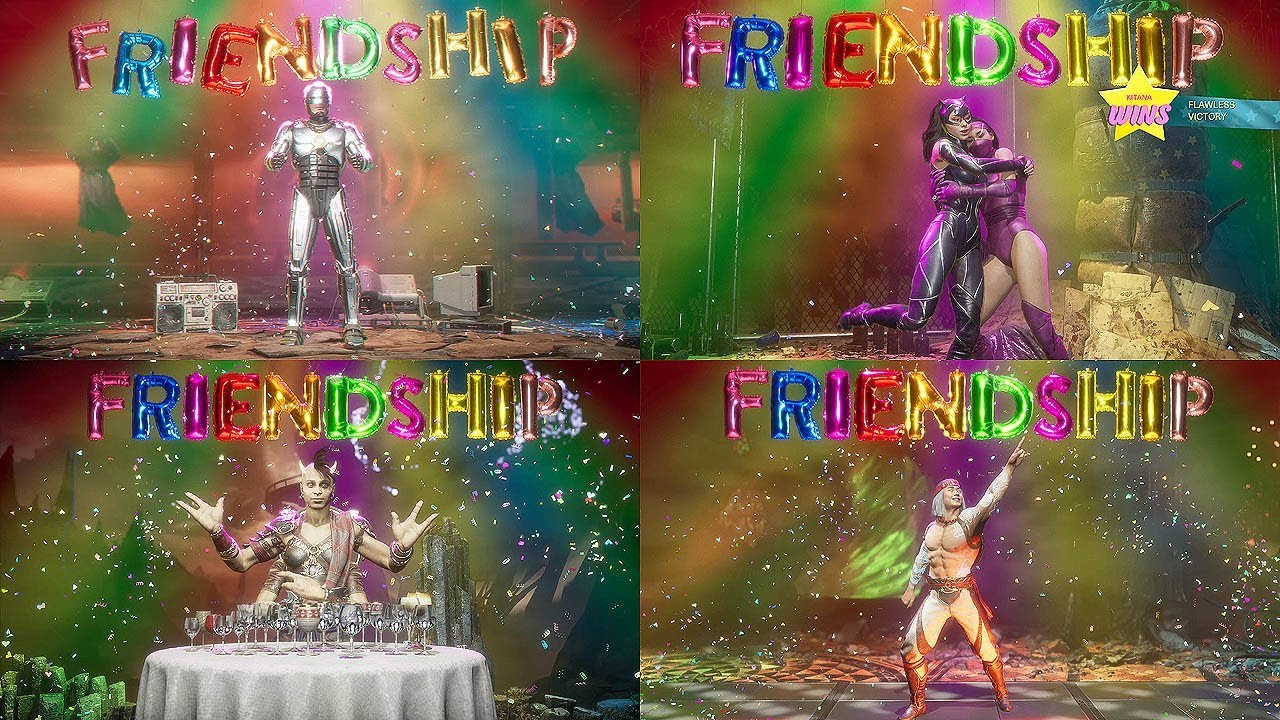 Mortal Kombat 11 - ALL FRIENDSHIPS (MK11 Aftermath) All Characters Friendships @ 1440p ✔