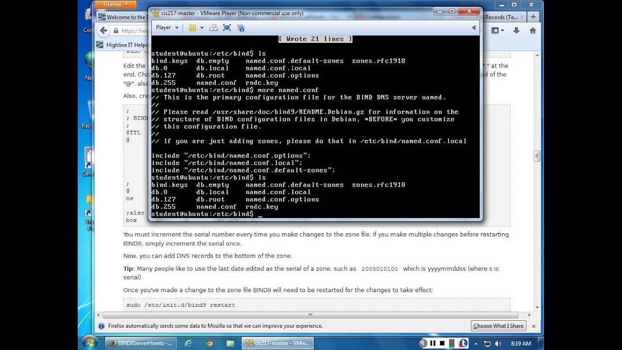Ubuntu DNS Caching Server Configuration Forward Zones