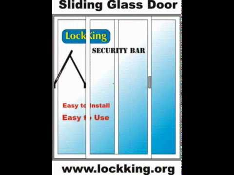 Sliding Glass Door/Patio Door Security Bar/Lock