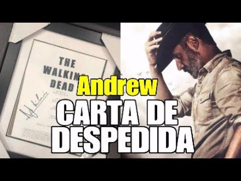 Andrew Lincoln Carta de Despedida en Español. Adiós Rick Grimes.