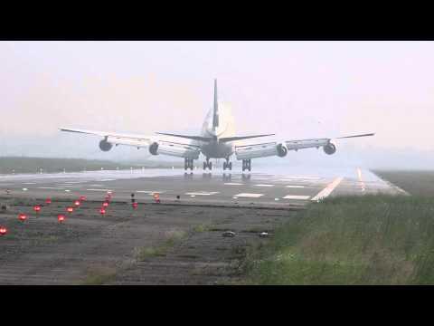 B747 landing at Hazrat Shahjalal International airport