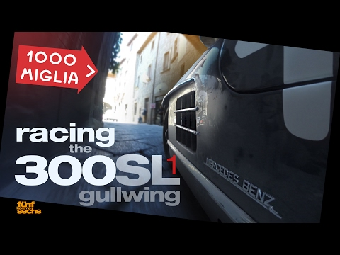 Mille Miglia Pt. 1/4: How to drive a Mercedes 300 SL Gullwing (German/English)