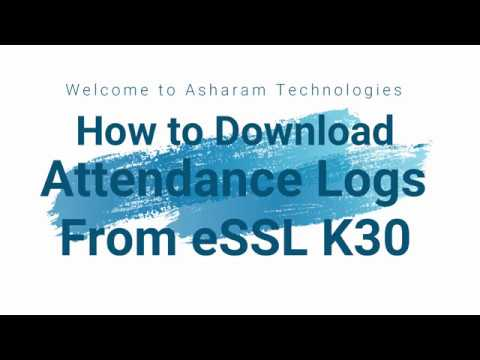 how to download attendance logs from essl machine k30 youtube