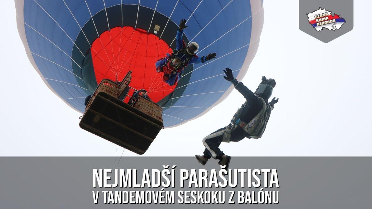 Video Nejmladší parašutista – pasažér tandemového seskoku z horkovzdušného balónu