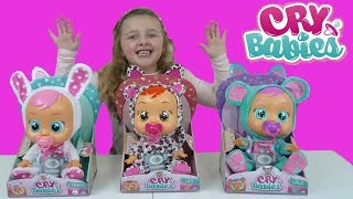 NEW CRY BABIES TOYS | Baby Dolls Cry REAL Tears | Toy Review The Disney Toy Collector