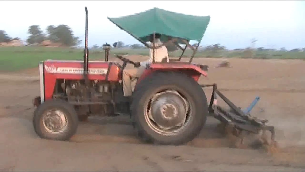 Indian agriculture tractor. Agriculture technology of ...