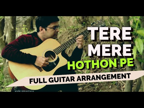 Tere Mere Honton Pe on Guitar by Kapil Srivastava, Instrumental | Chandni