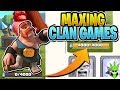 HOW FAST CAN WE MAX CLAN GAME POINTS? - Let's Play TH9 - Clash of Clans