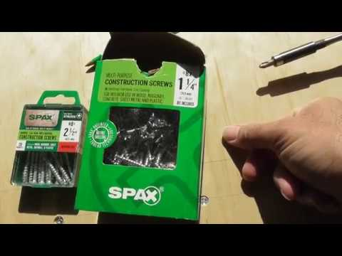 SPAX Construction Multi Purpose UniDrive WOOD SCREWS REVIEW WHAT WORKS
