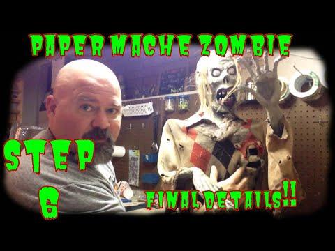 Paper mache zombie final detail