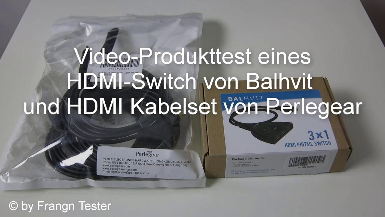 444/475 - HDMI Switch - von Balhvit ® / HDMI Kabel - von Perlegear ...