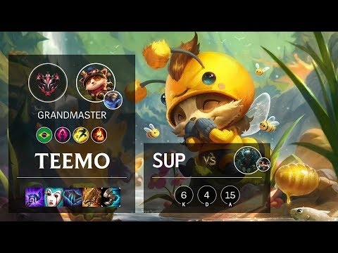 Teemo Support vs Pyke - BR Grandmaster Patch 10.5