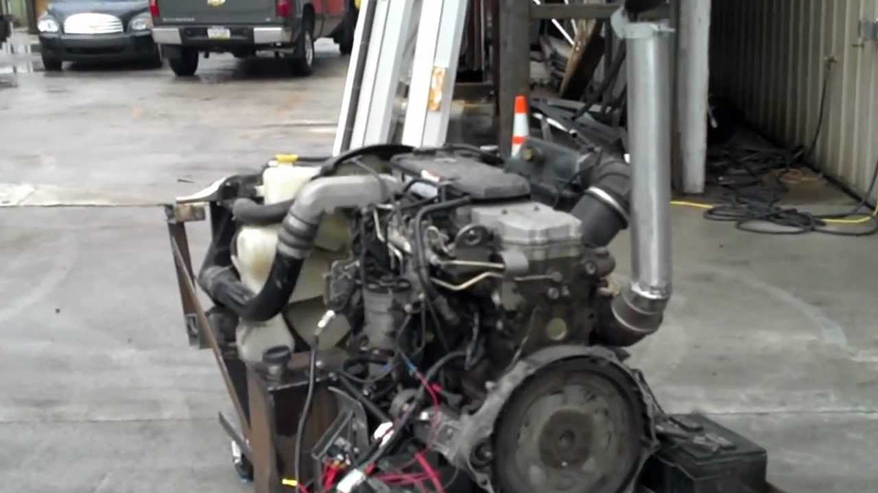 5 9 cummins on engine run stand / self contained auxiliary power unit