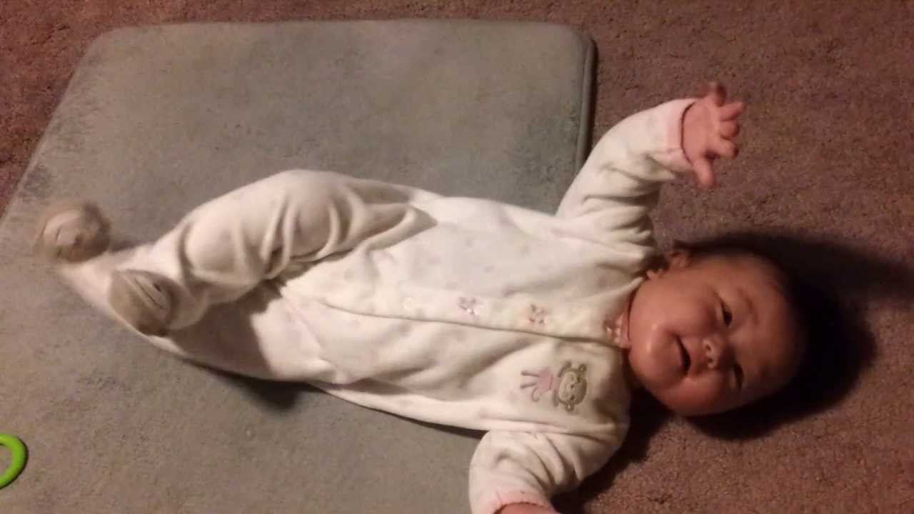 6 month old baby rolling over for the first time ...