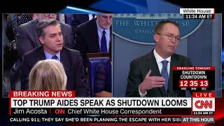 Mulvaney battles Acosta over shutdown blame