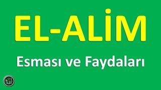 EL ALİM ; Esması ve Faydaları