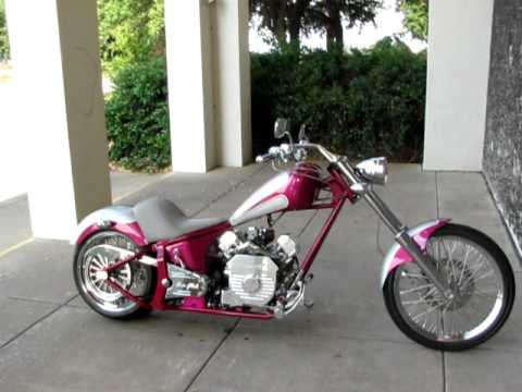 Ridley Motorcycle For Sale >> Ridley Softail Chopper with Drag Pipes for Sale, Fat Rear Tire - YouTube