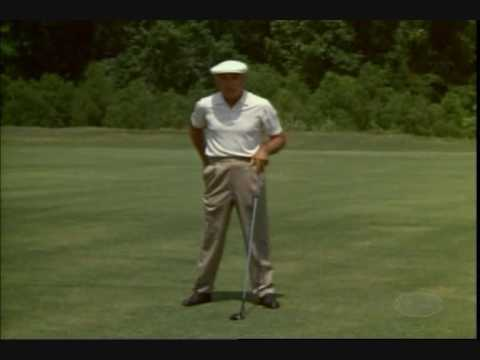 A golf lesson from ben hogan and his golf swing in biz hub slo-mo swing vision style