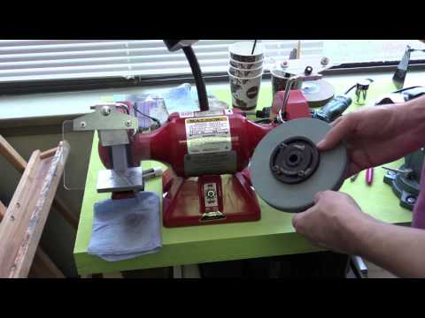 Episode 19, Setting up bench grinder, 6'' Baldor 612R, balancing and dressing