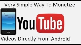 Cara Monetisasi Video Youtube Menggunakan Hp Andorid (How to Monetize Video Youtube Using Hp Android